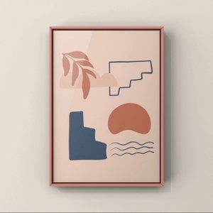 Modern minimalist boho abstract wall art print